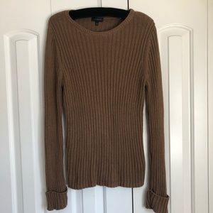 The Limited knit sweater in brown color